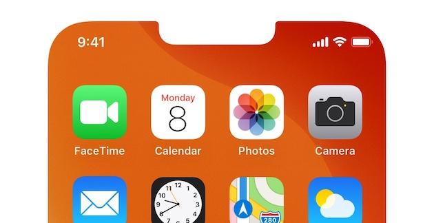 Appleは2021年iPhone13でカメラが画面下のノッチなしモデルを開発中?