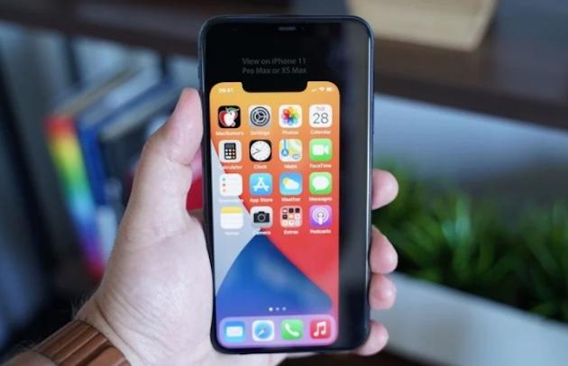 壁紙で5.4インチiPhone12の大きさを確認してみよう!コンパクトさがよくわかるかも