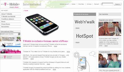iPhone ドイツではT-Mobileから発売