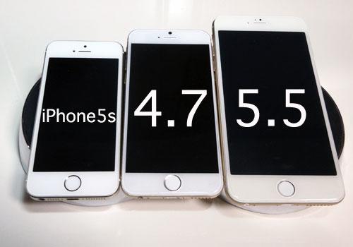 iPhone6 4.7インチと5.5インチモック
