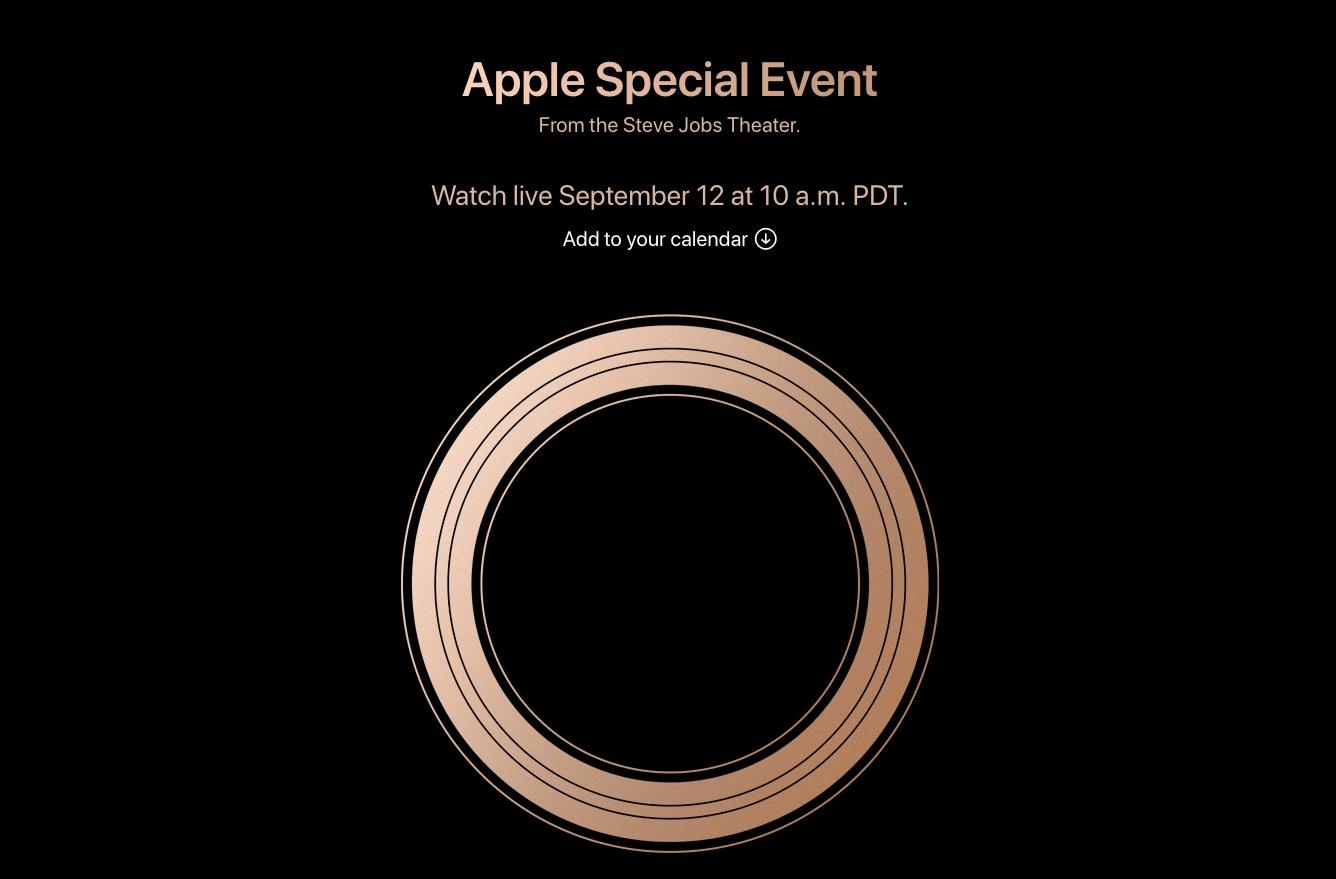 Appleの発表イベントは9月12日に開催!iPhoneXs/iPhone9の予約開始日と発売日はほぼこれで確定?