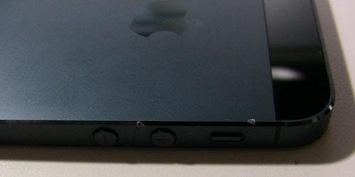 落としたiPhone5黒