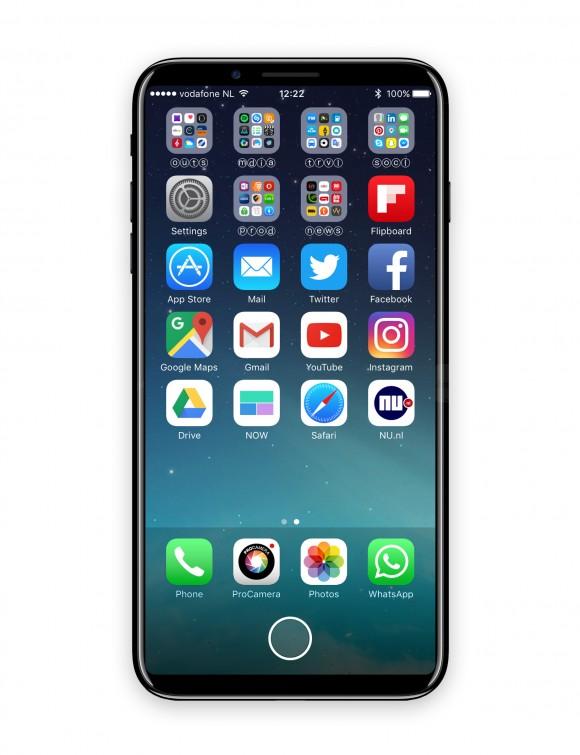 次期「iPhone8」には画面下にファンクションエリアが採用される!?